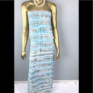 Cynthia Rowley Teal Maxi Dress, Small 👗